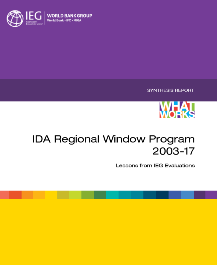 IDA Regional Window Program 2003-17 Lessons from IEG Evaluations