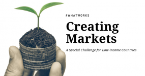 Creating markets in low income countries