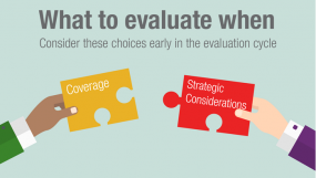 What to Evaluate When - Consider These Choices Early in the Evaluation Cycle