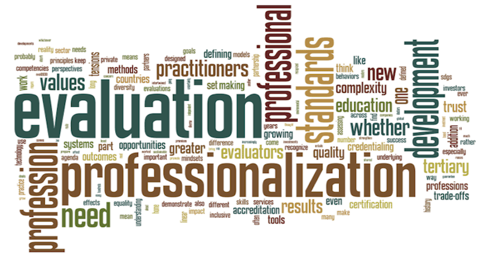 Professionalization With a View to Eval2030