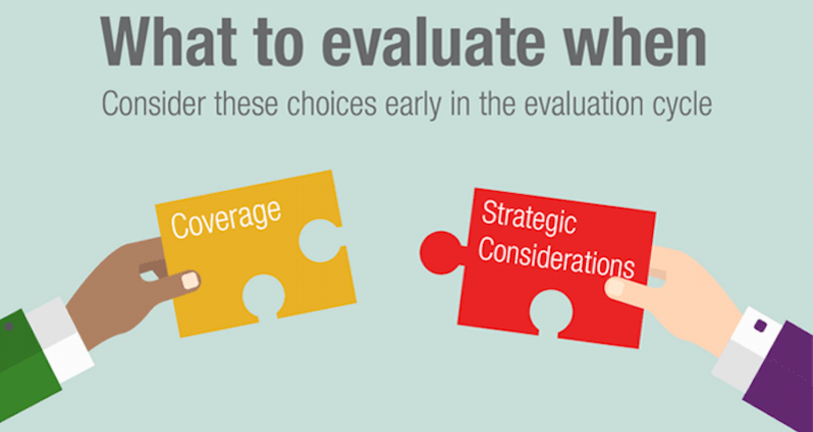 The first step to a great evaluation? Make the right choices