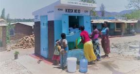 A water kiosk in Chipata