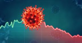 Corona virus economic impact concept image