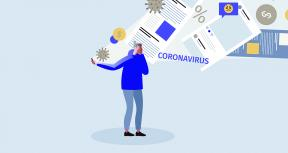 Coronavirus infodemia concept illustration. Sad Woman standing with mobile phone full of news and warnings about economy crisis and COVID 19 outbreak