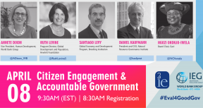 Citizen Engagement and Accountable Government: What Works & What's Next