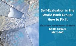 IEG LIVE: Self-Evaluation in the World Bank Group: How to Fix It