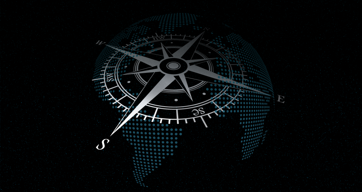 IEG Annual Report 2020 image of a compass